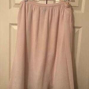 GAP light pink chiffon skirt